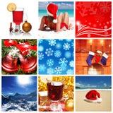 De collage van Kerstmis Stock Afbeeldingen