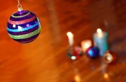 De collage van Kerstmis op parket Royalty-vrije Stock Afbeelding