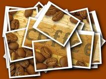 De collage van koffiebonen Royalty-vrije Stock Afbeeldingen