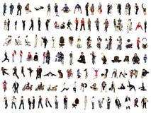 De collage van mensen Stock Foto's
