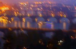 De collage van Praquebruggen Stock Afbeelding