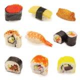 De collage van sushi Stock Foto