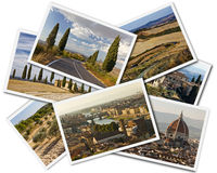 De Collage van Toscanië Stock Afbeelding