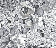 De collage van de tuinbloem Royalty-vrije Stock Afbeeldingen