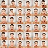 De collage van uitdrukkingen Stock Fotografie