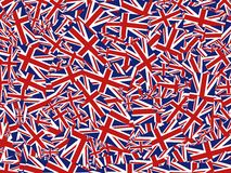 De collage van Union Jack stock illustratie