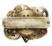 De collage van uurwerktoestellen Stock Afbeelding