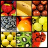 De collage van vruchten Stock Afbeeldingen
