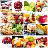 De Collage van vruchten stock fotografie