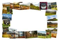De Collagebeelden van Schotland Stock Foto's