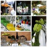 De collagethema van de catering royalty-vrije stock afbeeldingen