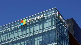 De collectieve bouw van Microsoft stock footage