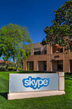 De Collectieve Bouw van Skype in Silicon Valley Stock Foto