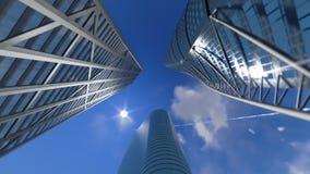 De collectieve gebouwen en wolken van de tijdtijdspanne, voorraadlengte stock video