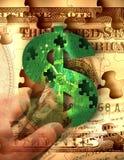 De collectieve Greep van het Geld Stock Foto