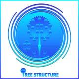 De collectieve hiërarchie van de boomstructuur Stock Foto's