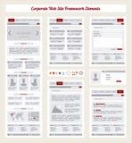 De collectieve Kaart van de Internetsitenavigatie, Structuurprototype Fram Royalty-vrije Stock Afbeeldingen