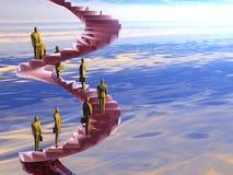 De collectieve ladder. royalty-vrije illustratie