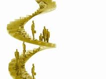 De collectieve ladder. Stock Fotografie