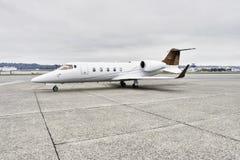 De collectieve vliegtuigen van Learjet stock afbeeldingen
