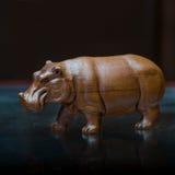 De collector en zijn hippos in een privé-collectie Royalty-vrije Stock Foto's