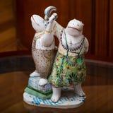 De collector en zijn hippos in een privé-collectie Royalty-vrije Stock Foto