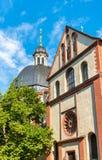 De collegiale kerk van Neumunster in Wurzburg, Duitsland royalty-vrije stock fotografie