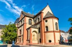 De collegiale kerk van Neumunster in Wurzburg, Duitsland royalty-vrije stock foto