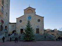 De Collegiale Kerk van Santa Maria Assunta of de Kathedraal van stock afbeeldingen