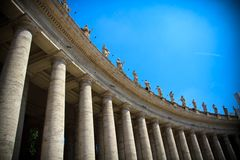 De colonnade van Bernini `s Royalty-vrije Stock Foto's