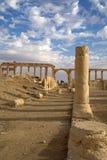 De colonnade van Palmyra Syrië Stock Foto