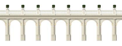 De colonnade van Toscanië die op wit wordt geïsoleerdi stock illustratie
