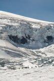 De Columbia isfälten Arkivfoto