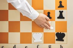 De combinatie op het schaakbord Royalty-vrije Stock Afbeeldingen