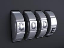 De combinatie van het veiligheidswachtwoord 3d illlustration Royalty-vrije Stock Afbeelding
