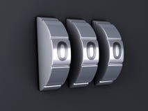 De combinatie van het veiligheidswachtwoord 3d illlustration Stock Fotografie