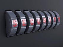 De combinatie van het veiligheidswachtwoord 3d illlustration Stock Foto