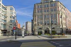 De combinatie verschillende stijlen van architectuur in Moskou Stock Fotografie
