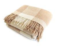 De comfortabele deken van de alpacawol Stock Afbeeldingen