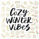 De comfortabele winter vibes Royalty-vrije Stock Foto's