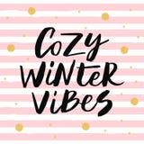 De comfortabele winter vibes Royalty-vrije Stock Afbeeldingen