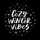 De comfortabele winter vibes Stock Afbeeldingen