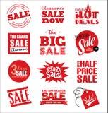 De commerciële etiketten van de leermarkering Royalty-vrije Stock Afbeeldingen
