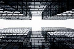 De Commerciële Gebouwen van het glas, Hongkong Stock Afbeeldingen