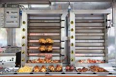 De commerciële Oven van Roestvrij staalrotisserie royalty-vrije stock fotografie