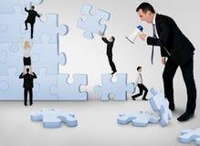 De commerciële teambouw raadsel stock fotografie