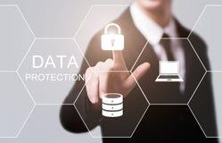 De Commerciële van de de Veiligheidsprivacy van gegevensbeschermingcyber Technologieconcept van Internet stock afbeelding