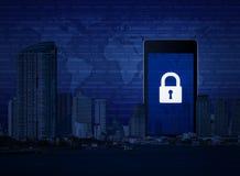 De commerciële veiligheid van Internet, Elementen van dit langs geleverde beeld Royalty-vrije Stock Afbeeldingen