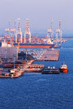 Commerciële containerhaven Stock Fotografie