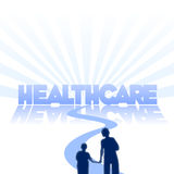De commerciële achtergrond van de gezondheidszorg Stock Foto's